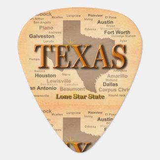 Vintage Karte Texas Plektrum