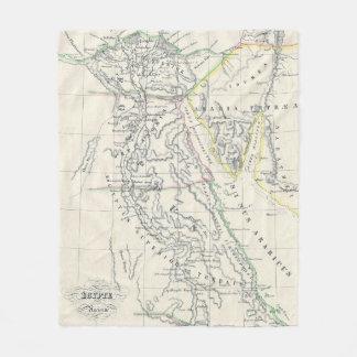 Vintage Karte von Ägypten (1837) Fleecedecke