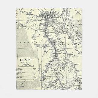 Vintage Karte von Ägypten (1911) Fleecedecke