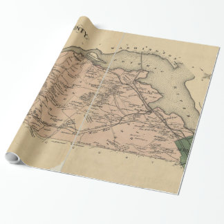 Vintage Karte von Alexandria-Landkreis Virginia Geschenkpapier