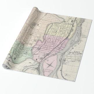 Vintage Karte von Allentown Pennsylvania (1872) Geschenkpapier