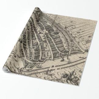 Vintage Karte von Amsterdam (1614) Geschenkpapier
