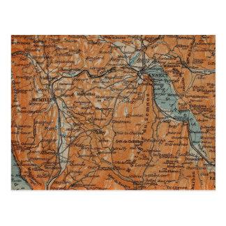Vintage Karte von Annecy Frankreich (1914)