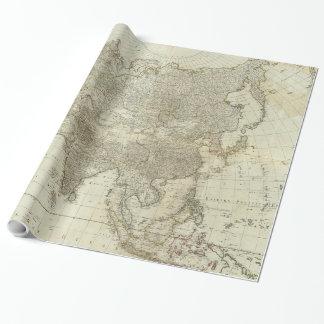 Vintage Karte von Asien (1757) Geschenkpapier