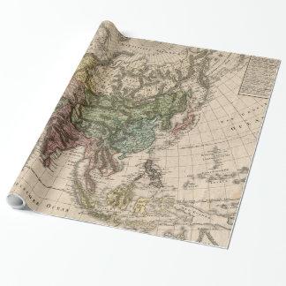 Vintage Karte von Asien (1805) Geschenkpapier