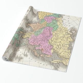 Vintage Karte von Asien (1827) Geschenkpapier