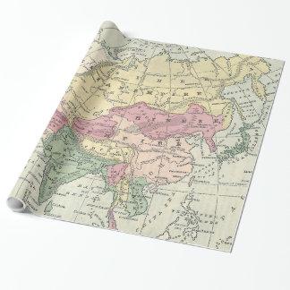 Vintage Karte von Asien (1872) Geschenkpapier