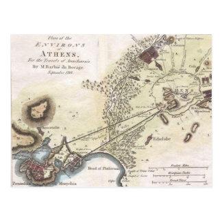 Vintage Karte von Athen (1784)