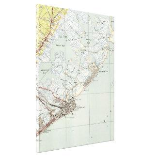 Vintage Karte von Atlantic City NJ (1941) Leinwanddruck