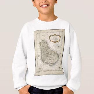 Vintage Karte von Barbados (1758) Sweatshirt