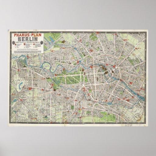 Vintage Karte von Berlin Deutschland (1905) Plakatdrucke