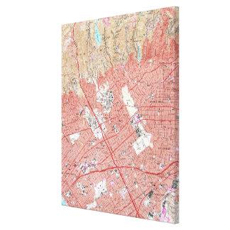 Vintage Karte von Beverly Hills Kalifornien (1950) Leinwanddruck