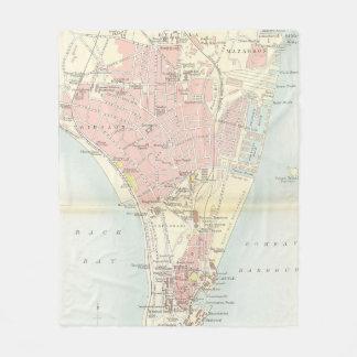 Vintage Karte von Bombay Indien (1893) Fleecedecke