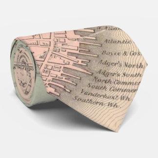Vintage Karte von Charleston South Carolina (1855) Krawatte