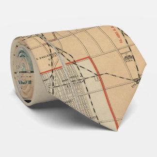 Vintage Karte von Chicago Illinois (1889) Krawatte