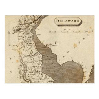 Vintage Karte von Delaware (1804)
