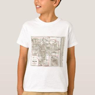 Vintage Karte von Denver Colorado (1920) T-Shirt