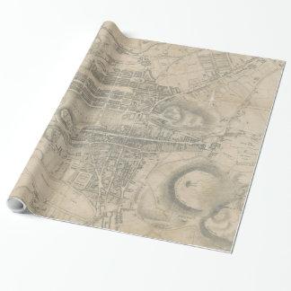 Vintage Karte von Edinburgh Schottland (1818) Geschenkpapier
