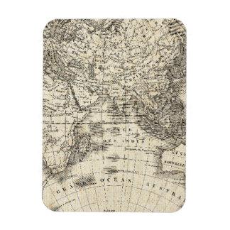 Vintage Karte von Europa und von Asien Magnet