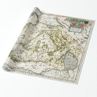 Vintage Karte von Finnland (1662) Geschenkpapier
