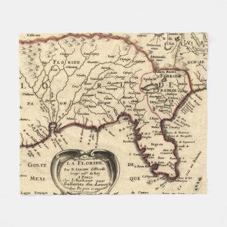 Vintage Karte von Florida (1657) Fleecedecke