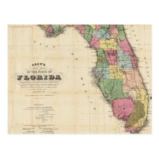 Vintage Karte von Florida 1870 Postkarten