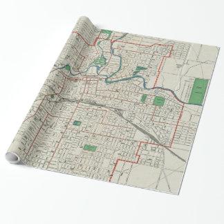 Vintage Karte von Fort Wayne Indiana (1919) Geschenkpapier