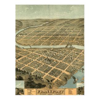 Vintage Karte von Frankfort Kentucky