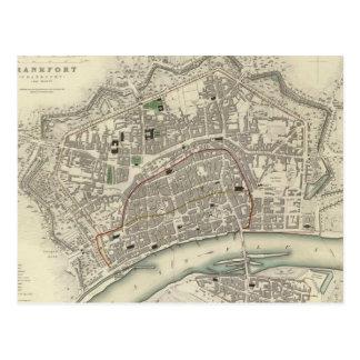 Vintage Karte von Frankfurt Deutschland (1837)