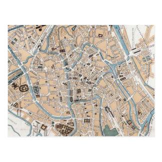 Vintage Karte von Gent Belgien (1905)