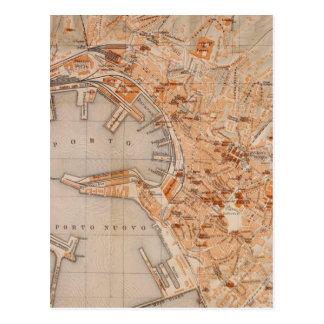 Vintage Karte von Genua Italien (1906)