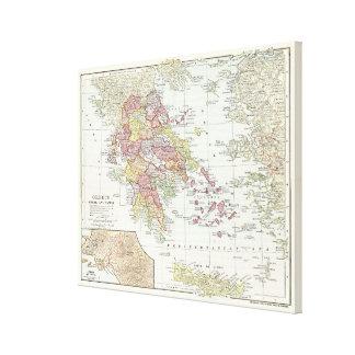 Vintage Karte von Griechenland (1903) 2 Leinwanddruck