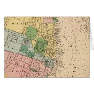 Vintage Karte von Halifax Neuschottland (1878)