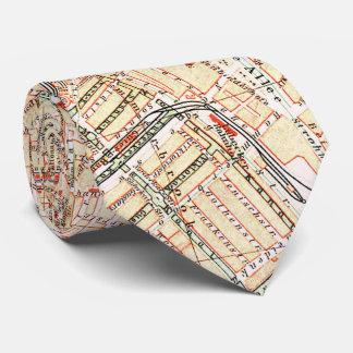 Vintage Karte von Hamburg Deutschland (1890) Krawatte