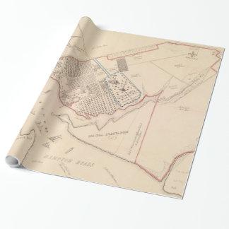 Vintage Karte von Hampton Virginia (1867) Geschenkpapier