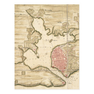 Vintage Karte von Havana Kuba (1740) Postkarte