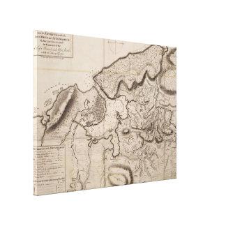 Vintage Karte von Havana Kuba (1762) 2 Leinwanddruck