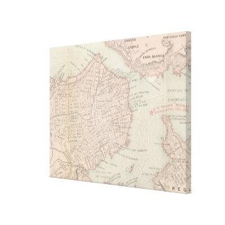 Vintage Karte von Havana Kuba (1898) Leinwanddruck