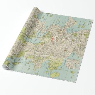 Vintage Karte von Helsinki Finnland (1920) Geschenkpapier