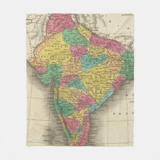 Vintage Karte von Indien (1831) Fleecedecke