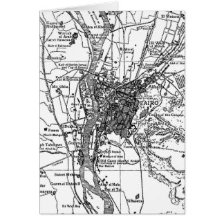 Vintage Karte von Kairo Ägypten (1911)