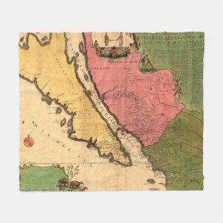 Vintage Karte von Kalifornien (1720) Fleecedecke