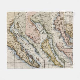 Vintage Karte von Kalifornien (1772) Fleecedecke