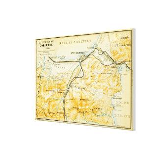 Vintage Karte von Korinth Griechenland (1894) Leinwanddruck