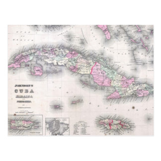 Vintage Karte von Kuba (1861)