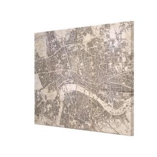 Vintage Karte von London England (1845) Leinwanddruck