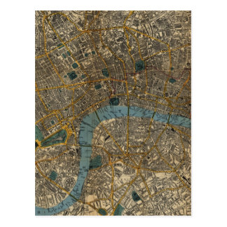 Vintage Karte von London England (1860)