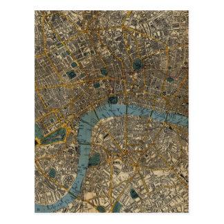 Vintage Karte von London England (1860) Postkarten