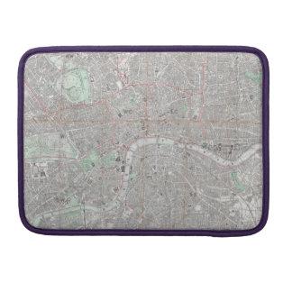 Vintage Karte von London-Stadt MacBook Pro Sleeve