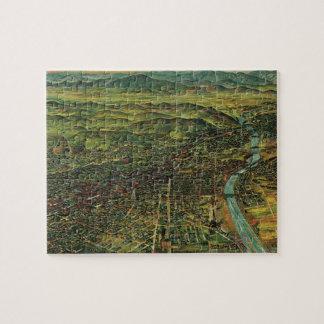 Vintage Karte von Los Angeles, von Kalifornien und Puzzle